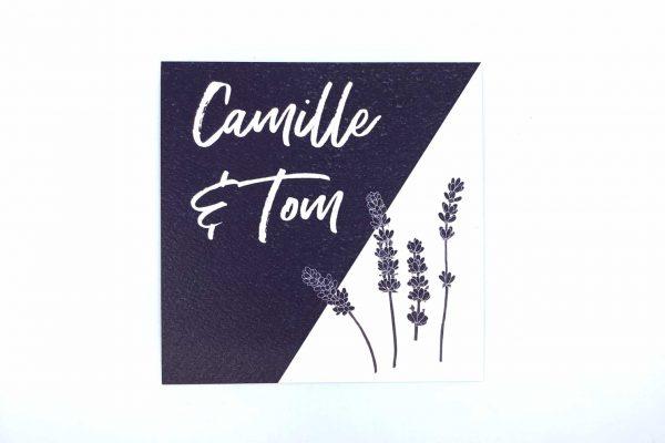 Uitnodiging Provence lavendel katoenpapier