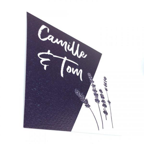 Uitnodiging Provence landelijk katoenpapier