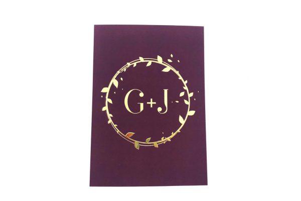 Luxe uitnodiging met gouden details en velvet feel