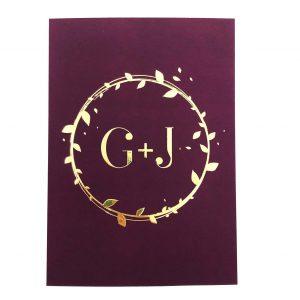 Luxe trouwkaart met gouden details en velvet feel