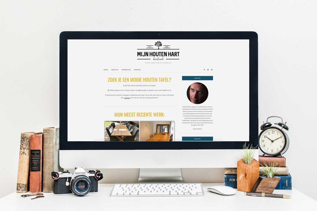 Een eenvoudige, simpel te onderhouden website voor meubelmaker Mijn Houten Hart